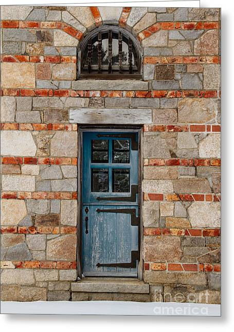 Old Maine Houses Greeting Cards - The Gatehouse Door Greeting Card by Bethany Helzer