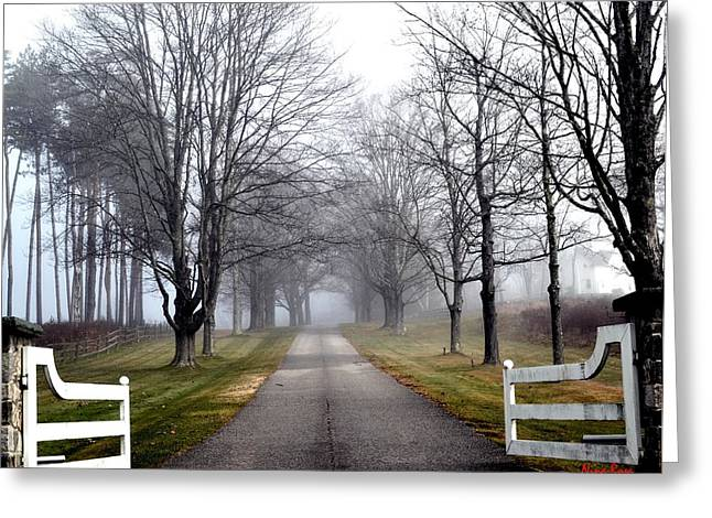 Maine Farmhouse Greeting Cards - The Gates Are Always Open Greeting Card by Nina-Rosa Duddy
