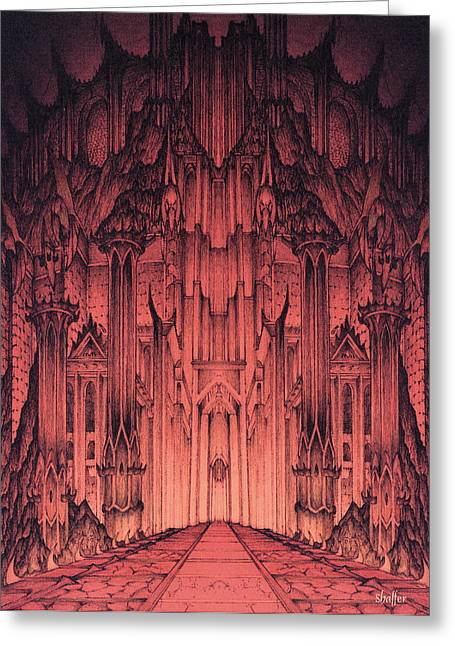 Jrr Tolkien Greeting Cards - The Gates of Barad Dur Greeting Card by Curtiss Shaffer
