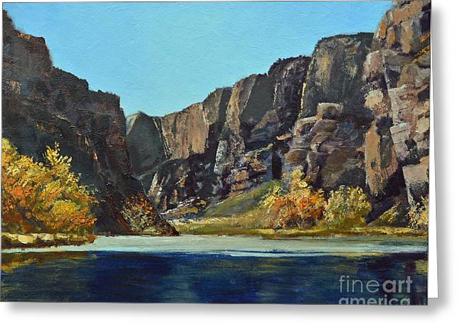 Terri Waters Paintings Greeting Cards - The Gates of Ladore Greeting Card by Terri Robertson