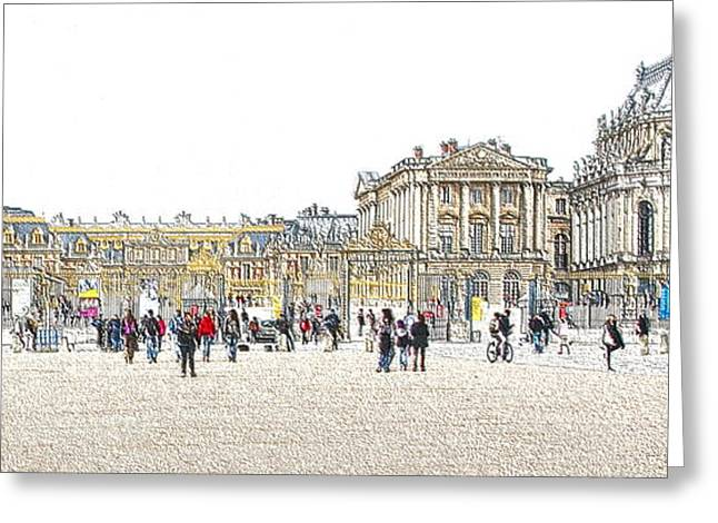 Coffee Drinking Greeting Cards - The Gates Of Versilles Greeting Card by Sergio B