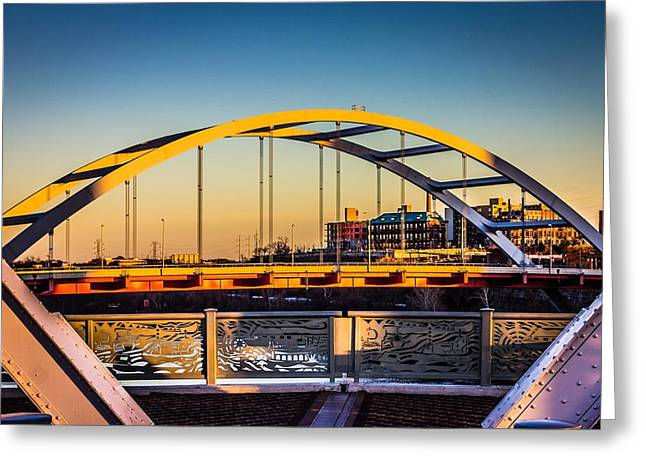Nashville Tennessee Greeting Cards - The Gateway Bridge Greeting Card by Richard Call