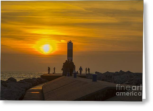 Monolith Greeting Cards - The Gathering Greeting Card by Michael J Samuels