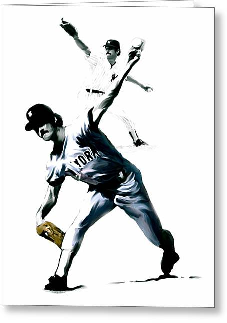 Louisiana Greeting Cards - The Gator  Ron Guidry  Greeting Card by Iconic Images Art Gallery David Pucciarelli