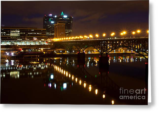 Tennessee River Greeting Cards - The Gay Street Bridge Greeting Card by Douglas Stucky