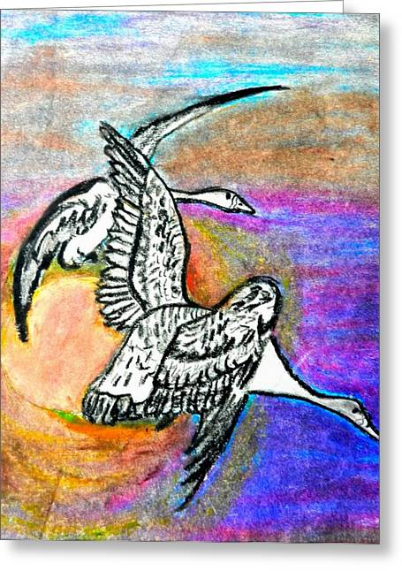 The Geese Greeting Card by Jo-Ann Hayden