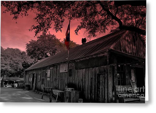 Historic Country Store Greeting Cards - The General Store in Luckenbach Texas Greeting Card by Susanne Van Hulst