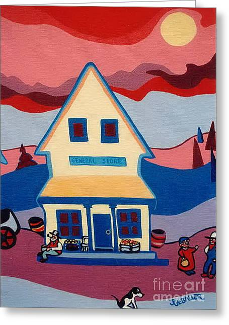The General Store Greeting Card by Joyce Gebauer