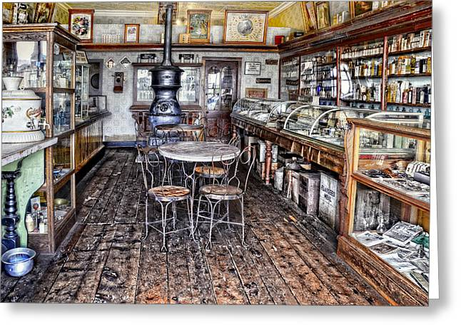 Display Case Greeting Cards - The General Store Greeting Card by Ken Smith