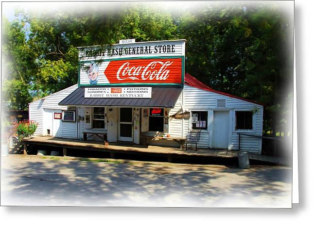 Rabbit Hash Greeting Cards - The General Store Greeting Card by Mel Steinhauer