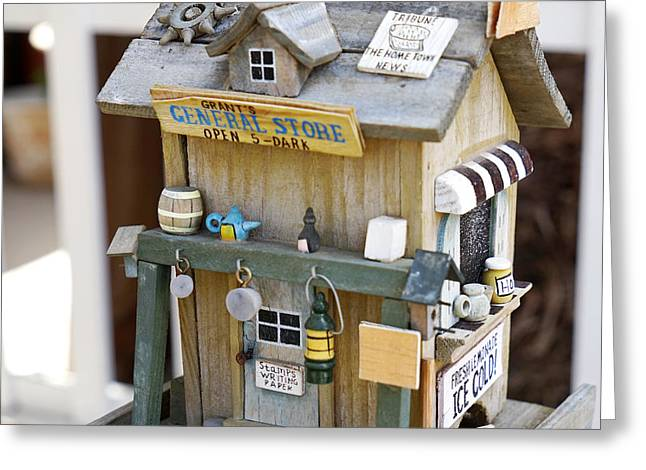Store Fronts Greeting Cards - The General Store Greeting Card by Nina Prommer