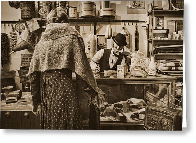 The General Store Greeting Card by Priscilla Burgers