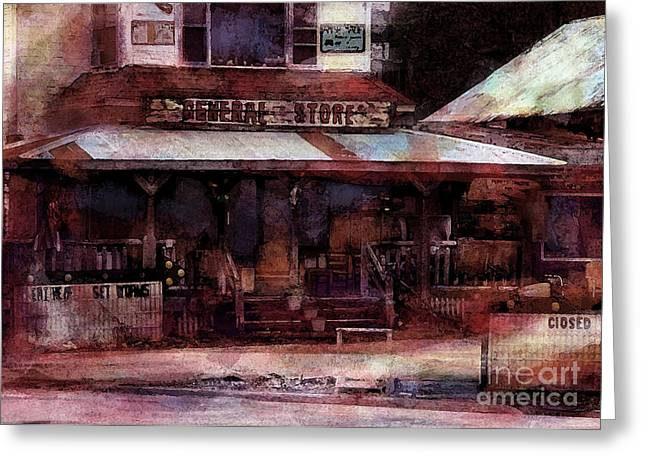 Impressionist Greeting Cards - The General Store Greeting Card by Thomas Zuber
