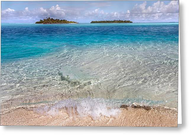 Tropical Oceans Greeting Cards - The Gentle Power of Water. Maldives Greeting Card by Jenny Rainbow