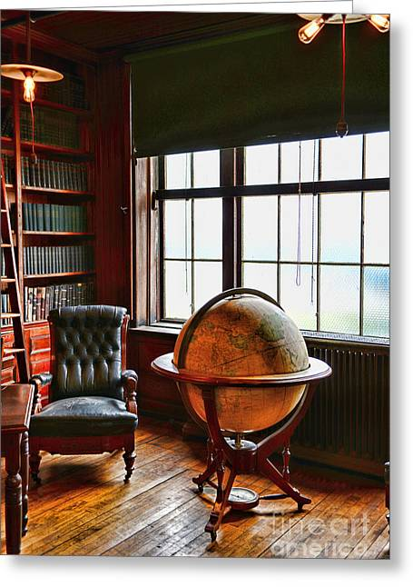 Tome Greeting Cards - The Gentlemans Study Greeting Card by Paul Ward