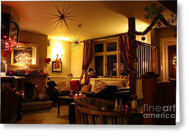 Cushion Greeting Cards - The George Inn Middle Wallop Greeting Card by Terri  Waters