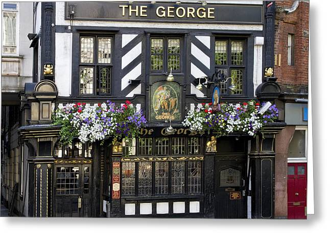 Old Inns Photographs Greeting Cards - The George on the Strand Greeting Card by Shirley Mitchell