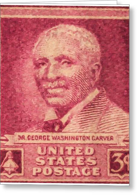 George Washington Carver Greeting Cards - The George Washington Carver stamp Greeting Card by Lanjee Chee