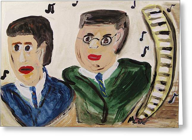 Gershwin Greeting Cards - The Gershwin Brothers Greeting Card by Mary Carol Williams