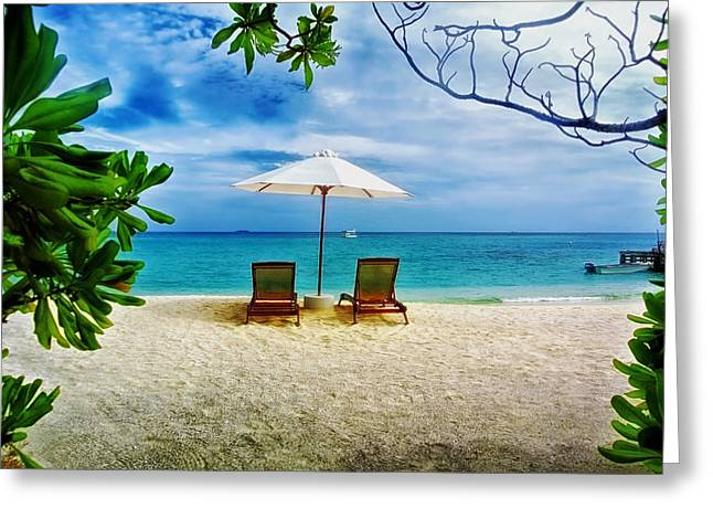 Maldives Greeting Cards - The Getaway Greeting Card by Mountain Dreams