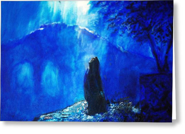 Sacrifice Mixed Media Greeting Cards - The Gethsemane Prayer Greeting Card by Seth Weaver