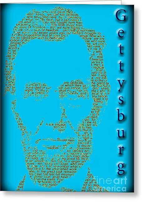 Slavery Greeting Cards - The Gettysburg Address 150th Anniversary  Greeting Card by Gary Keesler
