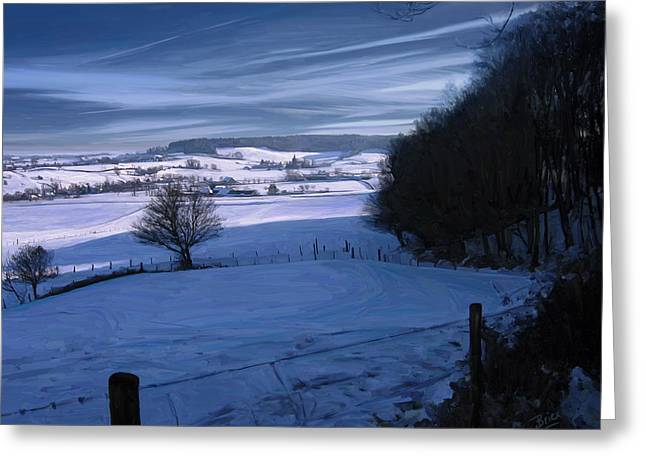 Limburg Greeting Cards - The Geul Valley near Epen Greeting Card by Nop Briex