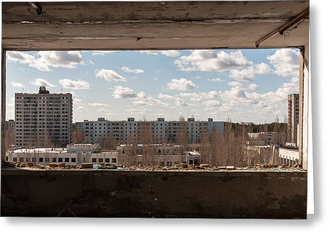 Tears Pyrography Greeting Cards - The ghost city of pripyat Greeting Card by Oliver Sved