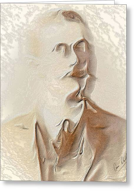 Freud Greeting Cards - The ghost of Sigmund Freud Greeting Card by Joaquin Abella