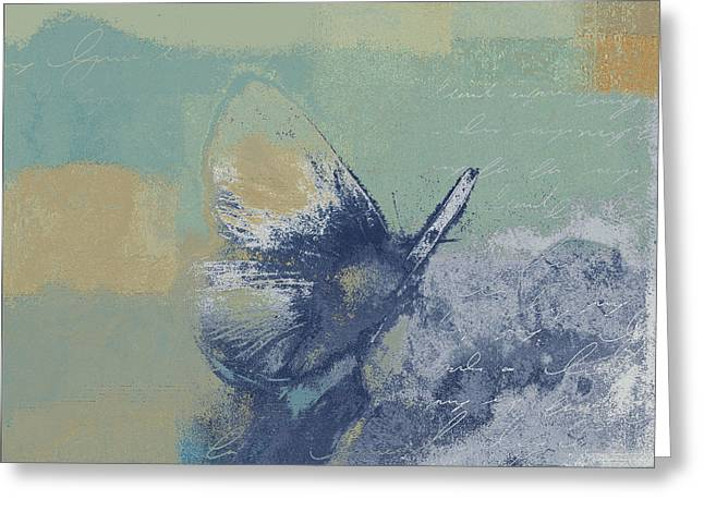 The Giant Butterfly And The Moon - J216094206-c09a Greeting Card by Variance Collections