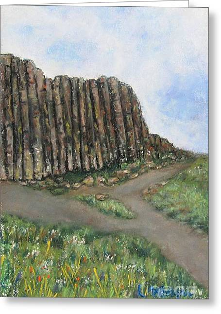 Formation Pastels Greeting Cards - The Giants Causeway Greeting Card by Laurie Morgan