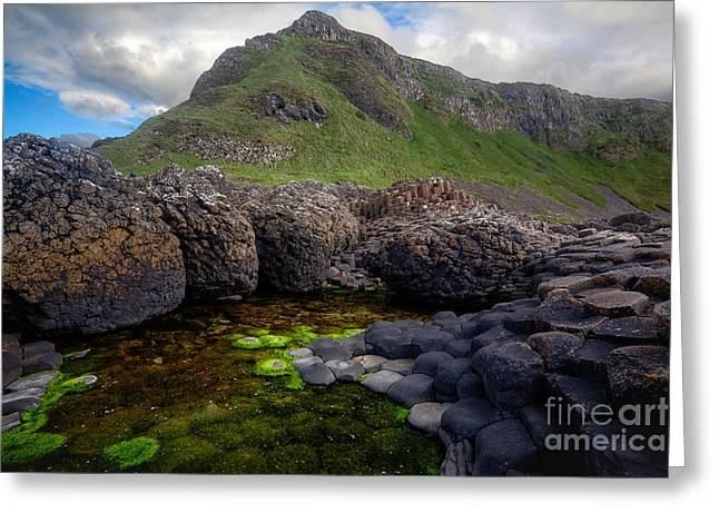 The Giant's Causeway - Peak And Pool Greeting Card by Inge Johnsson