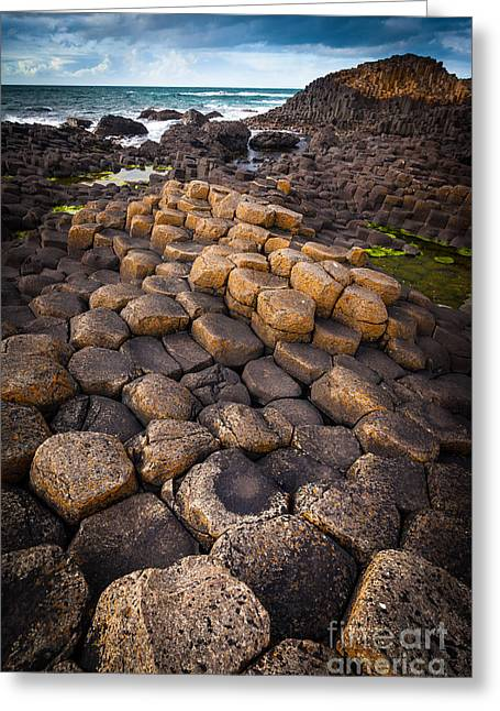 The Giant's Causeway - Rocky Road Greeting Card by Inge Johnsson