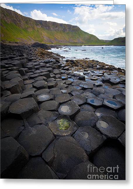 The Giant's Causeway - Staircase Greeting Card by Inge Johnsson