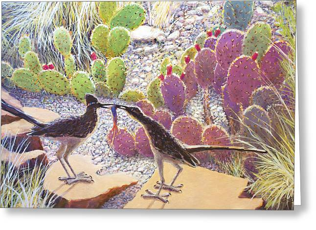 Gravel Road Paintings Greeting Cards - The Gift Greeting Card by Charles Wallis