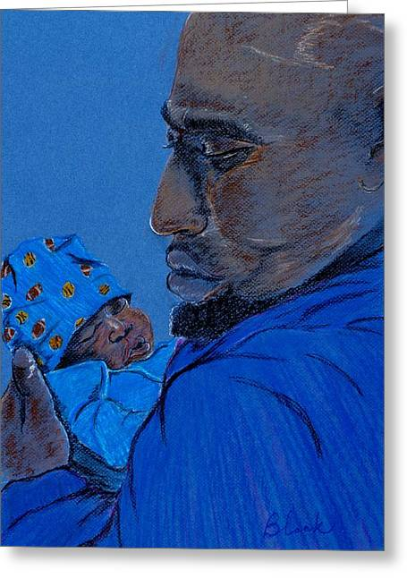 African-americans Pastels Greeting Cards - The Gift Greeting Card by Charlie Black