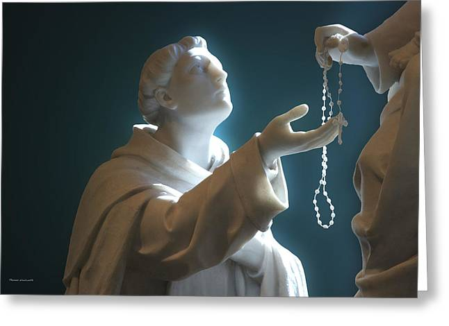 Rosary Digital Art Greeting Cards - The Gift Of A Rosary Greeting Card by Thomas Woolworth