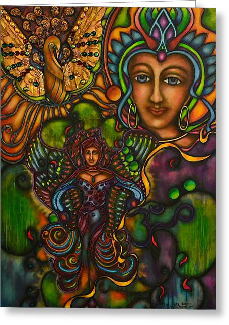 The Gift Of Lady Phoenix Greeting Card by Marie Howell Gallery