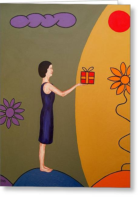 Special Occasion Greeting Cards - The Gift Greeting Card by Patrick J Murphy