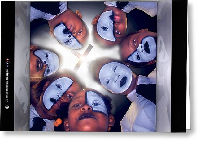 Mimes Greeting Cards - The Gift1  Greeting Card by Reggie Duffie