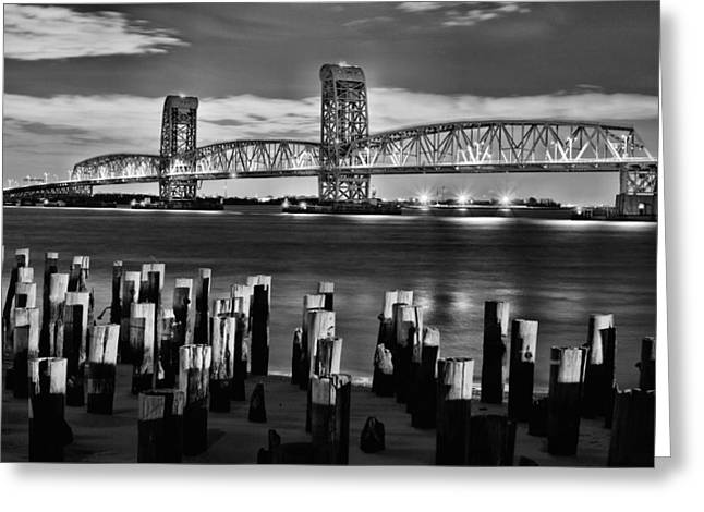 York Beach Greeting Cards - The Gil Hodges Bridge Greeting Card by JC Findley