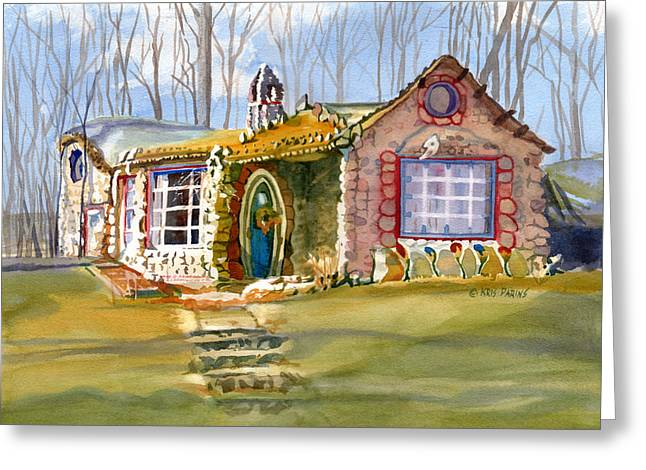 Florida House Greeting Cards - The Gingerbread House Greeting Card by Kris Parins