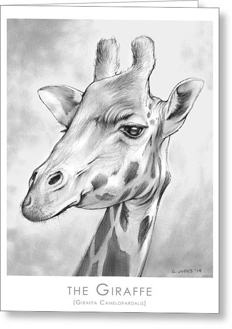 The Giraffe Greeting Card by Greg Joens