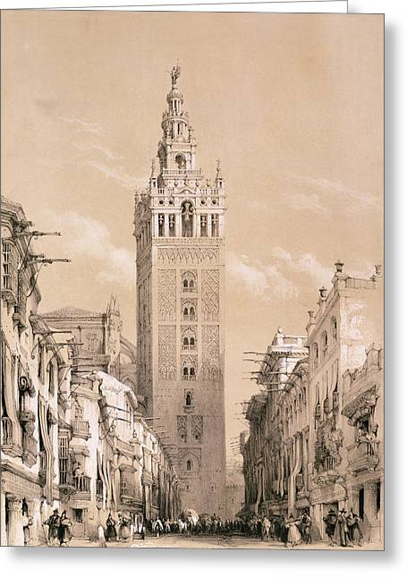 The Giralda, Seville Greeting Card by David Roberts