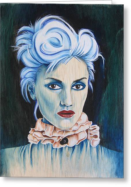 Gwen Stefani Paintings Greeting Cards - The Girl With No Doubt Greeting Card by Patrushka