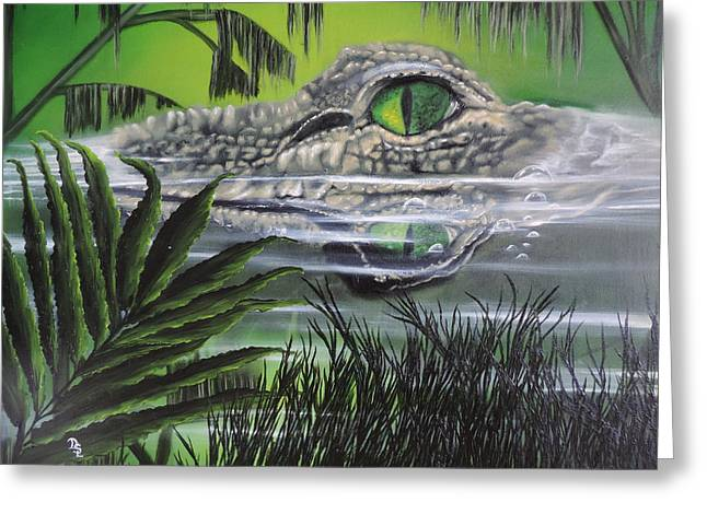 Florida Gators Paintings Greeting Cards - The Glades Greeting Card by Dianna Lewis