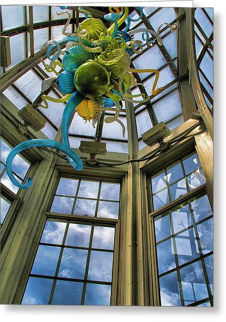 The Glass Room Greeting Card by Dan Sproul