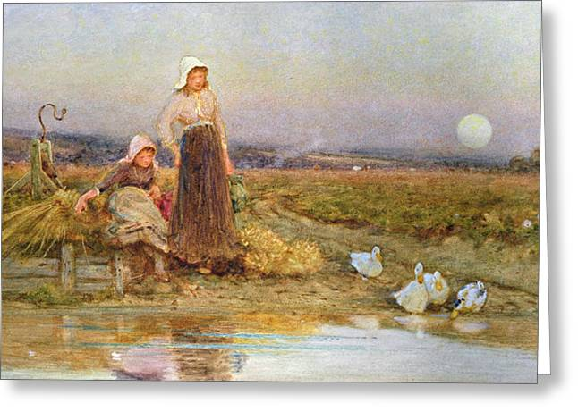 Shepherds Greeting Cards - The Gleaners Greeting Card by Thomas James Lloyd