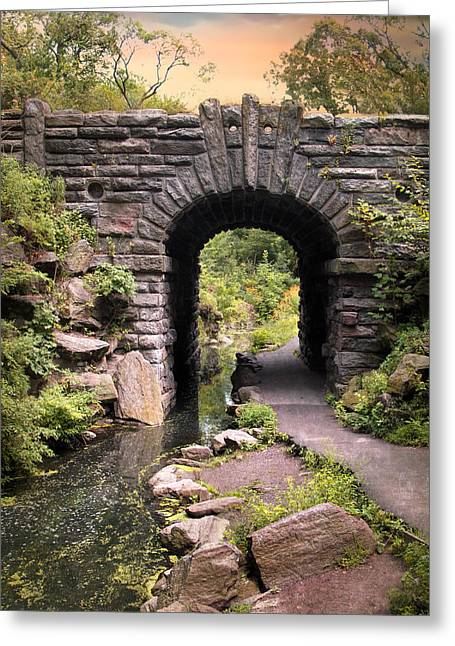 The Glen Span Arch Greeting Card by Jessica Jenney