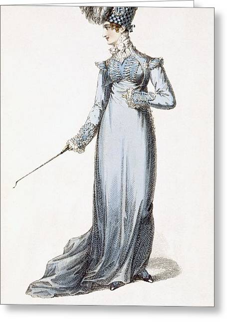 Long Sleeved Dress Greeting Cards - The Glengary Habit, Fashion Plate Greeting Card by English School